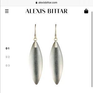 Alexis Bittar drop earring in warm grey! NEW W/TAG